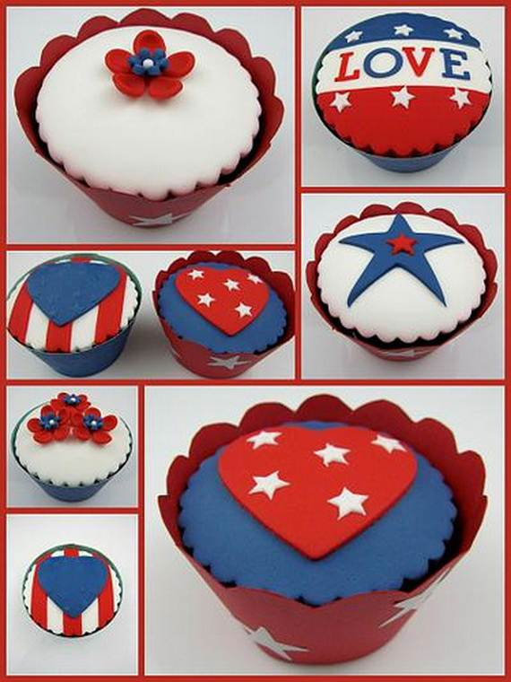 Independence Day Cakes & Cupcakes Decorating Ideas (24)