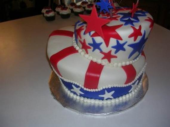 Independence Day Cakes & Cupcakes Decorating Ideas (32)