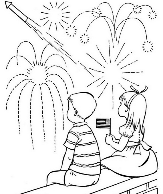 independence day coloring pages july fourth family