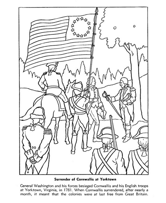 Independence Day Coloring Pages July Fourth family holidaynet