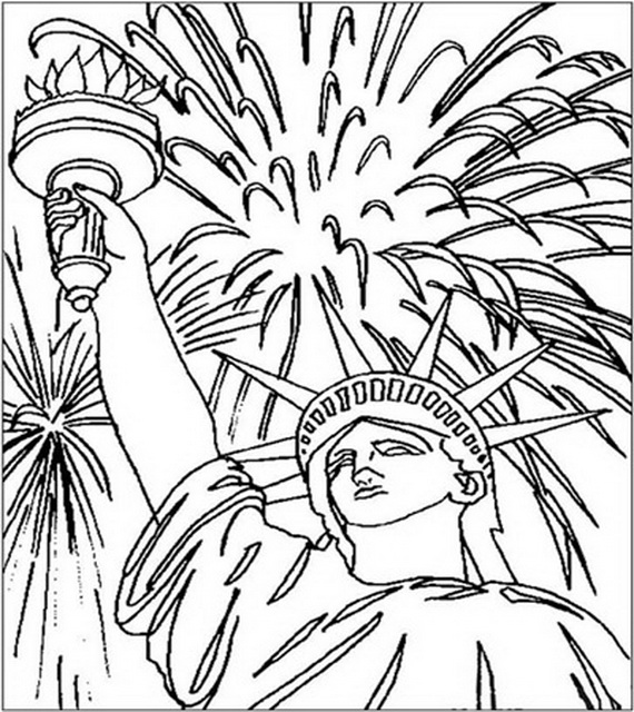 Independence day coloring pages july fourth family for 4th of july coloring pages for adults