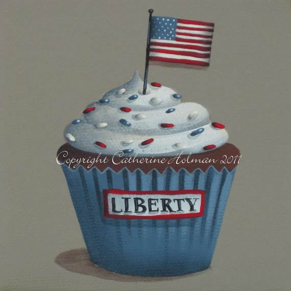 Independence day Cupcakes Decorating Ideas (14)