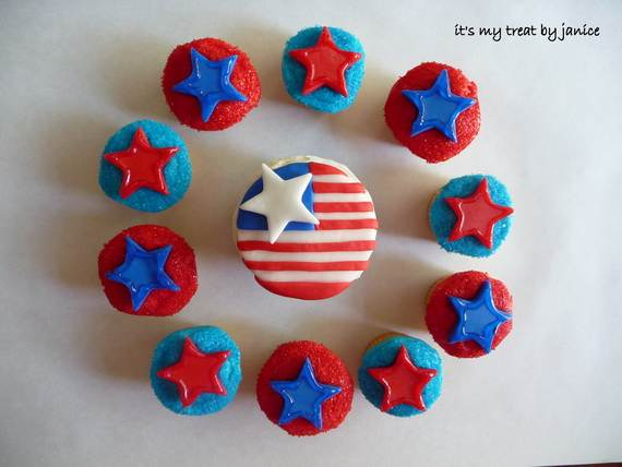 Independence day Cupcakes Decorating Ideas (30)