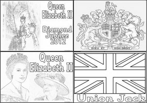 Queen Elizabeth Diamond Jubilee Coloring Pages 151