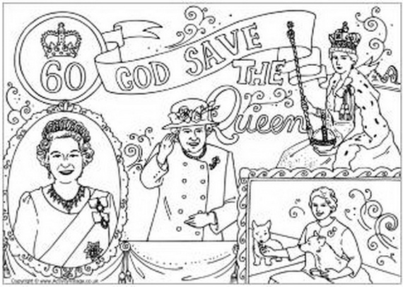 The Queens Diamond Jubilee Coloring Pages