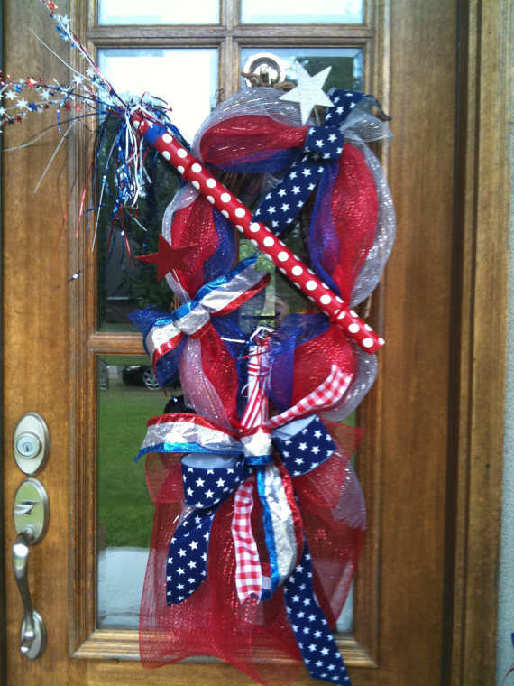 Wreath Usa 4th Of July Day And Other Patriotic Door Decorations Family Holiday Net Guide To
