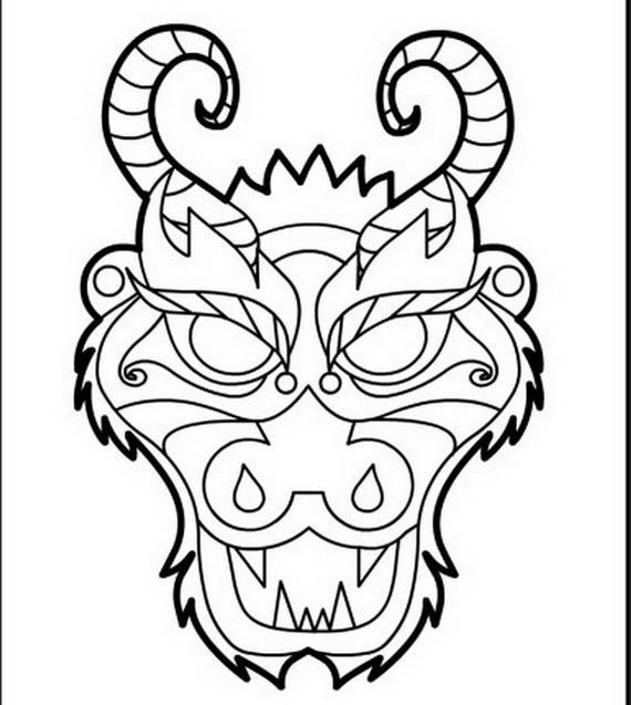 chinese dragons coloring pages - photo#8