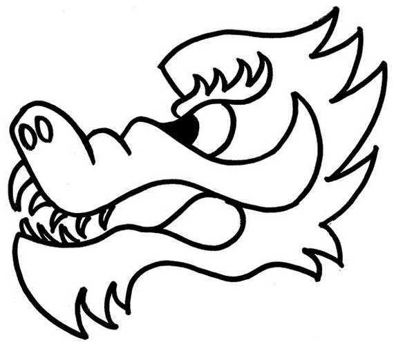dragon boat festival coloring pages_32 - Chinese Dragon Head Coloring Pages