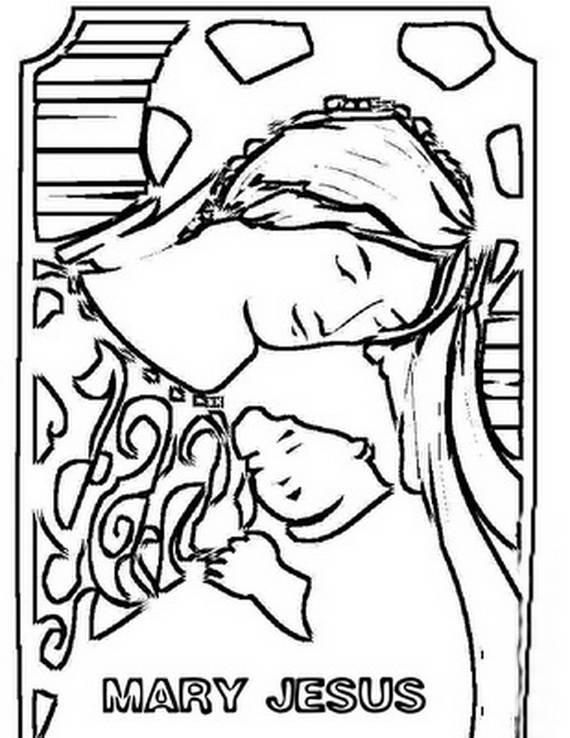 assumption of mary coloring pages - photo#18