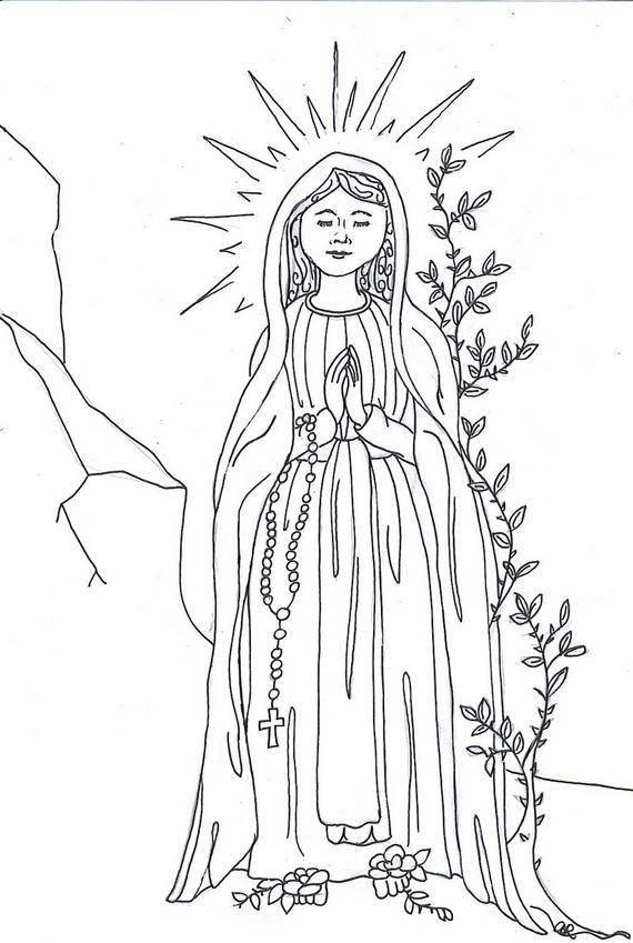 assumption of mary coloring pages - photo#7