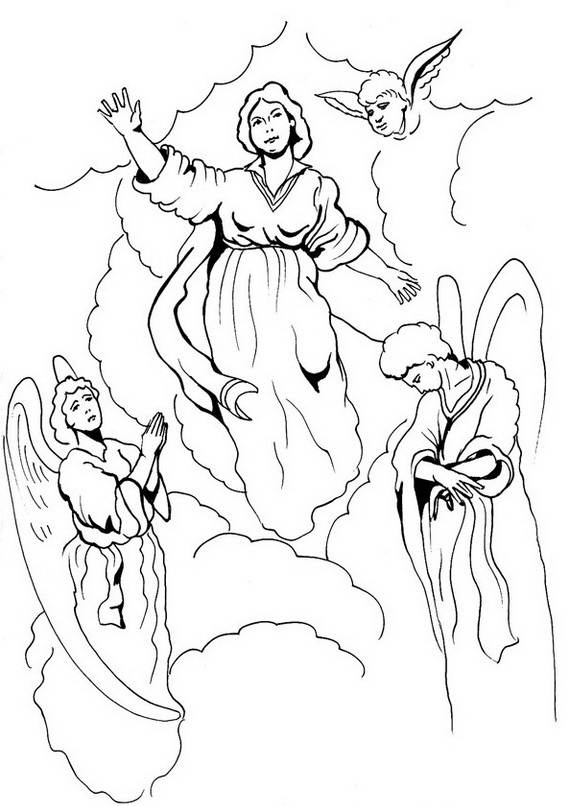 assumption of mary coloring pages - photo#4
