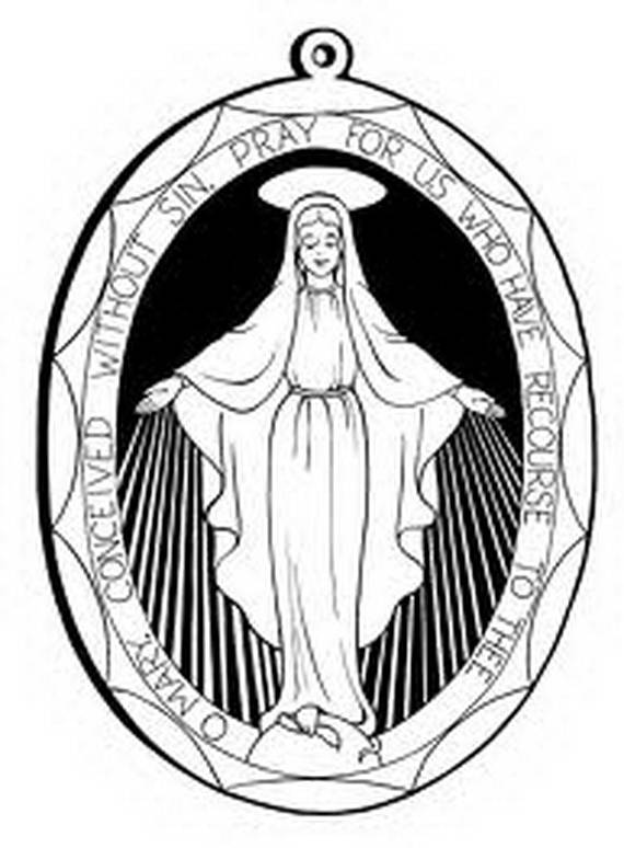 assumption of mary coloring pages - photo#33