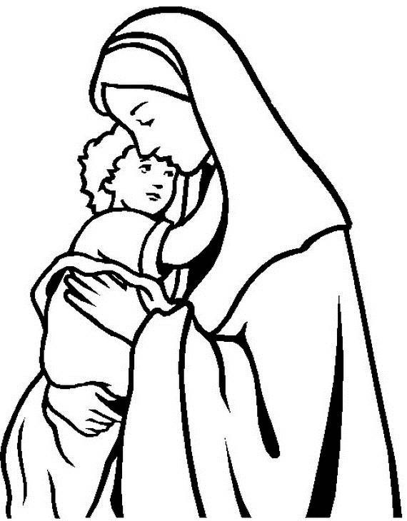 assumption of mary coloring pages - photo#13