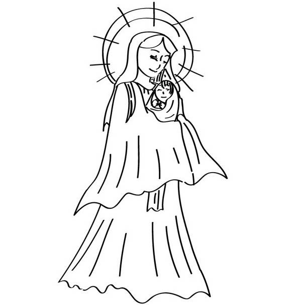 assumption of mary coloring pages - photo#26