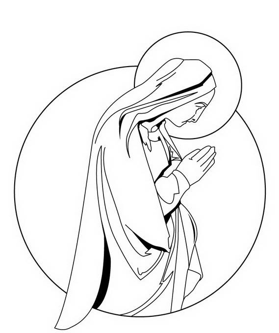 assumption of mary coloring pages - photo#27