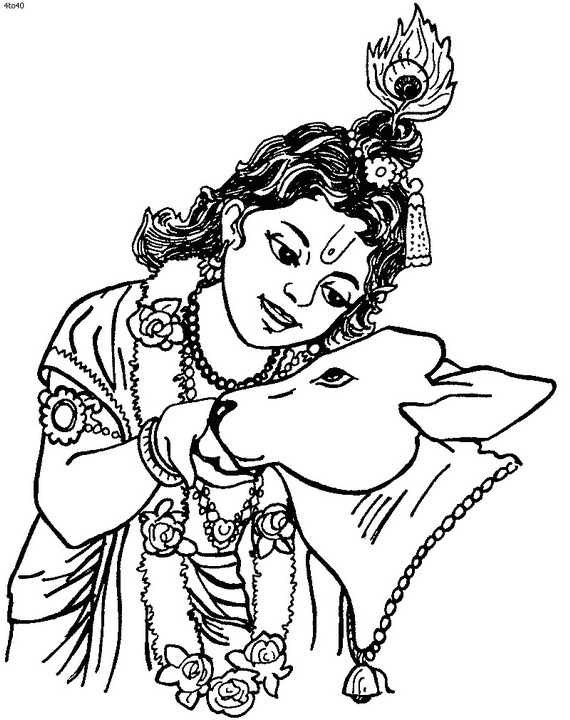 Pictures Drawings Of Baby Krishna