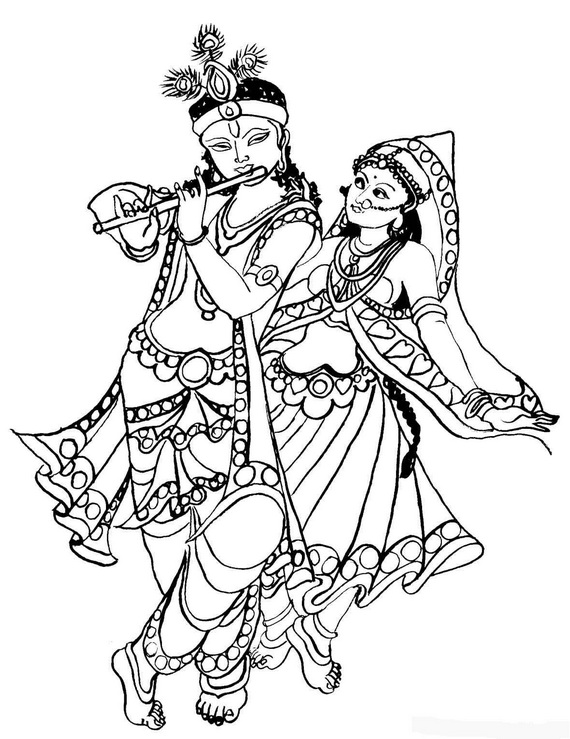 coloring pages on god krishna - photo#20