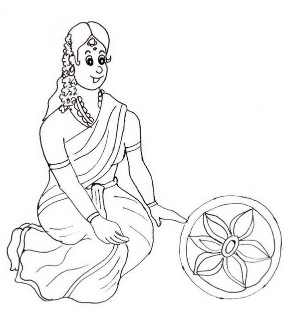 Shri Krishna Janmashtami Coloring