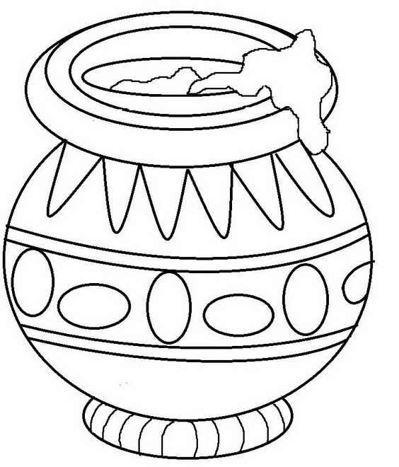 Coloring Pages Of Lord Krishna Drawing