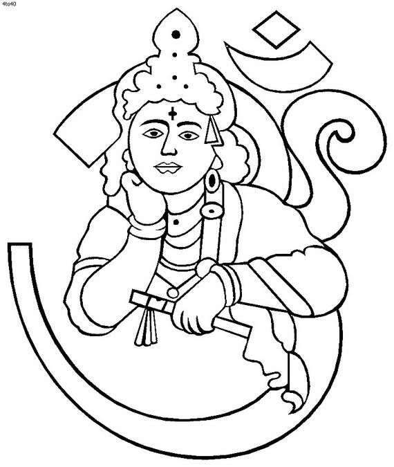 Shri Krishna Janmashtami Coloring Printable Pages For Kids Family