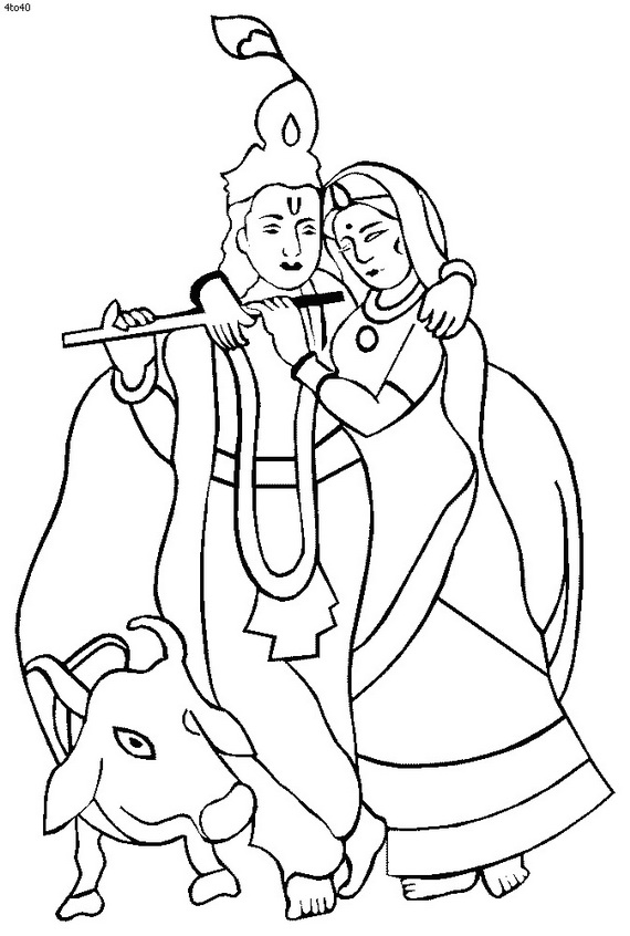related posts janmashtami festival coloring pages - Baby Krishna Images Coloring Pages