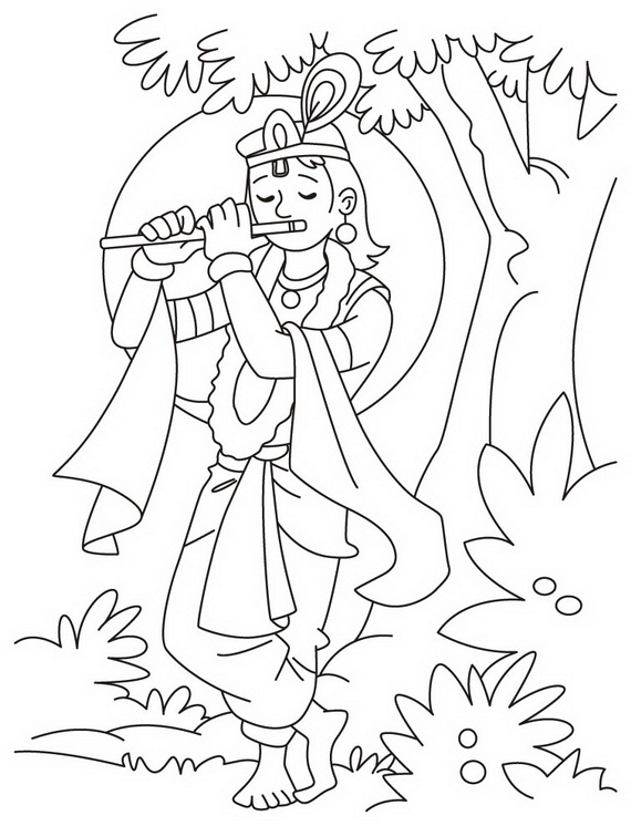 Shri Krishna Janmashtami Coloring Printable Pages For Kids ...