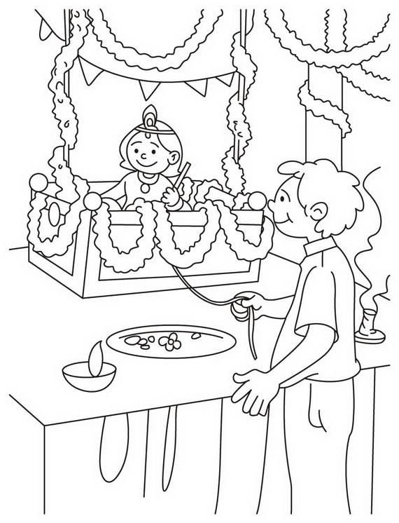 Shri Krishna- Janmashtami- Coloring -Printable- Pages- For- Kid-_37