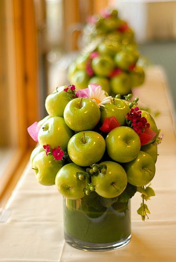 apple table centrepieces