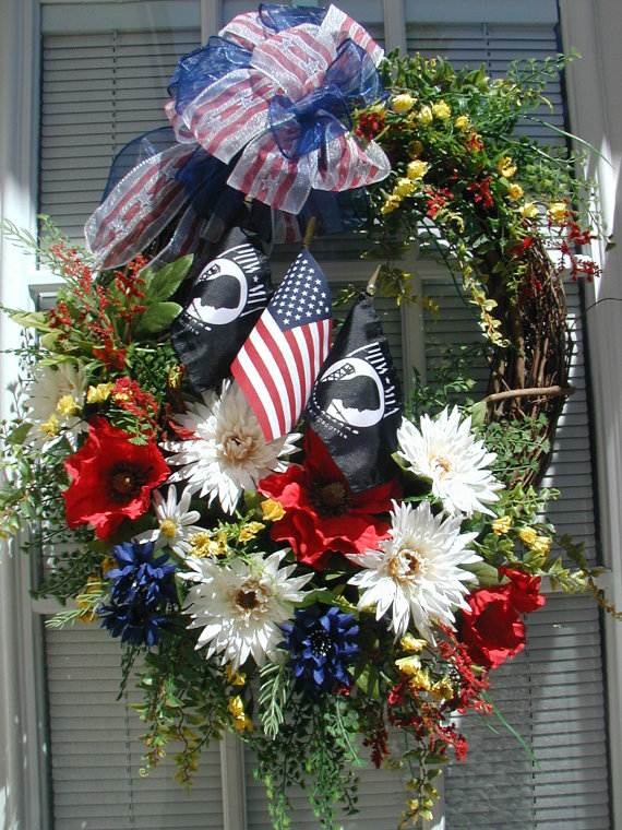 Decorative Labor Day Wreaths Entry Door Ideas Family