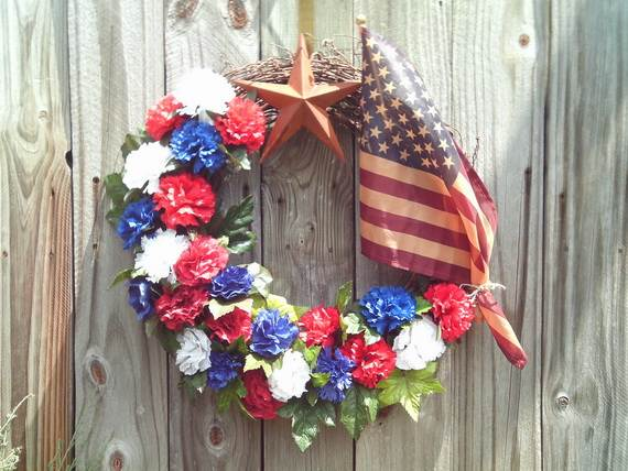 Easy Patriotic Wreaths For Labor Day Holiday Family