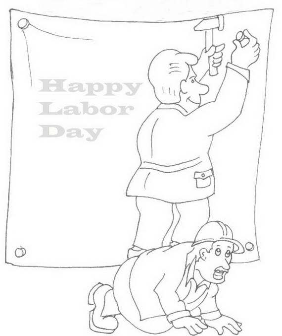 Free Printable Labor Day Coloring Page Sheets for Kids (11)