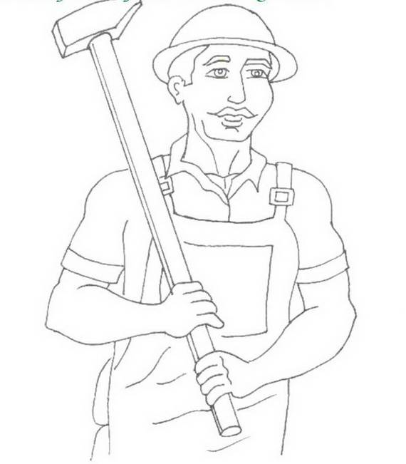 Free Printable Labor Day Coloring Page Sheets for Kids (16)