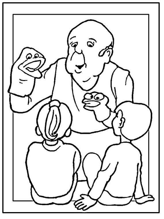 Grandparents day coloring pages to print and color for Coloring pages for grandparents