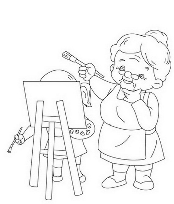 Grandparents Day Coloring Pages & Activities for Kids - family ...
