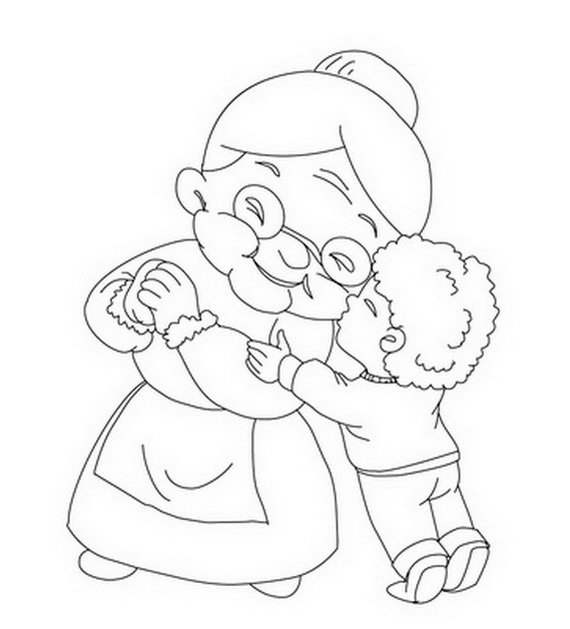 coloring pages for grandparents - photo#18