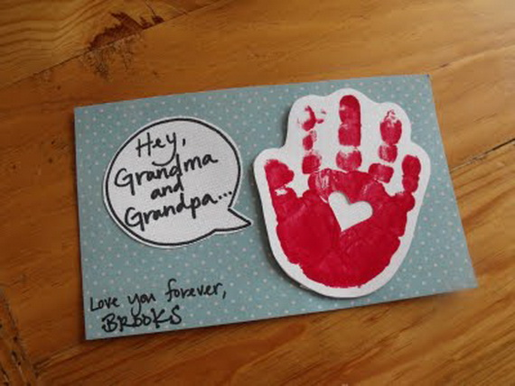 Great grandparents day gift ideas for kids to craft for Homemade gifts from toddlers to grandparents