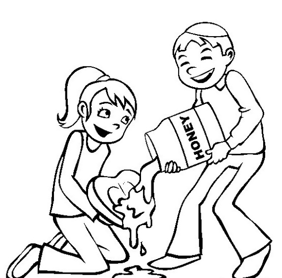 Amazing image inside rosh hashanah coloring pages printable
