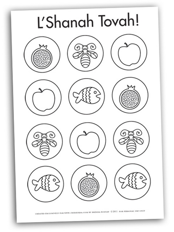 Rosh Hashanah Coloring Pages Printable For Kids Family Holiday Net