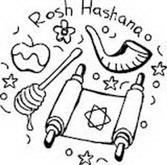 Rosh Hashanah Coloring Pages Printable for Kids family holidaynet