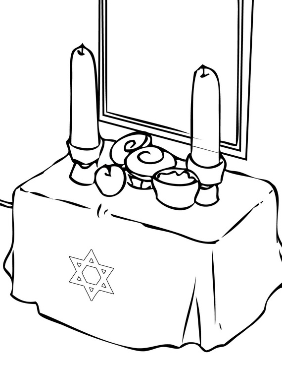rosh hosanna coloring pages - photo#18