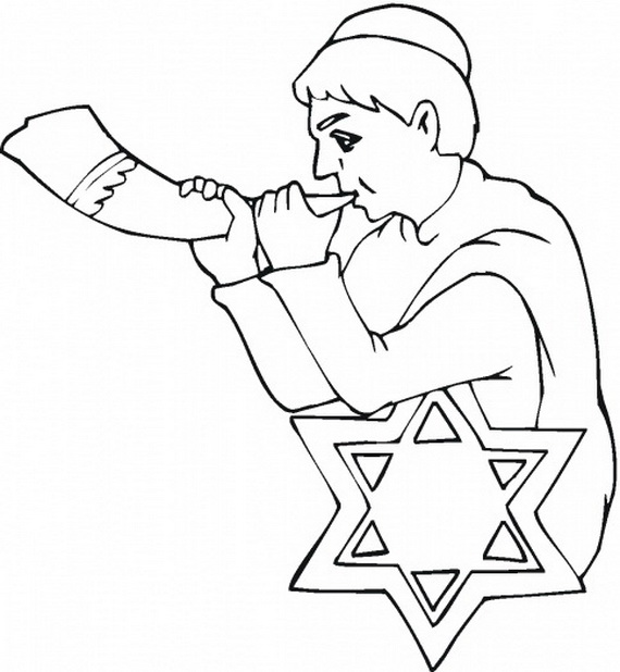 rosh hosanna coloring pages - photo#19