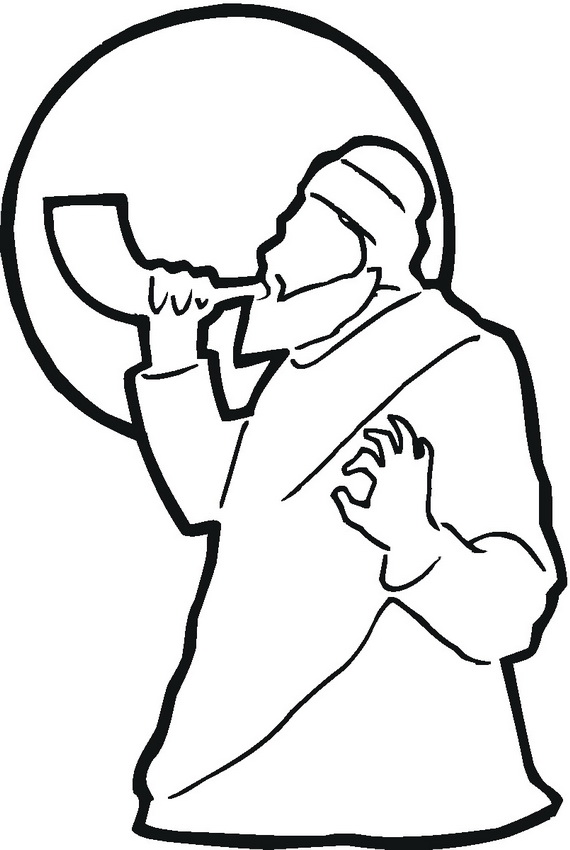 Jewish Shofar Coloring Pages Coloring Pages Rosh Hashanah Colouring Pages