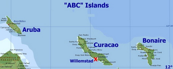 Dutch Caribbean Island Paradise On The ABC Islands Aruba Bonaire - Caribbean map aruba