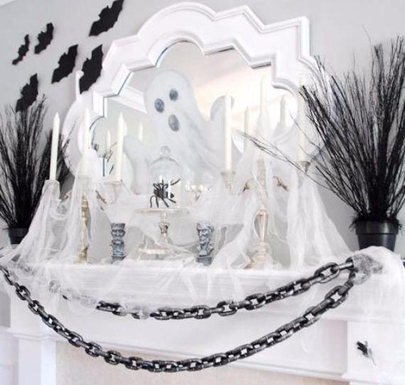 50 Great Halloween Fireplace Mantel Decorating Ideas