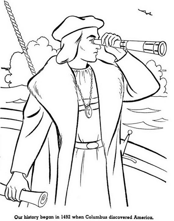 Christopher Columbus Ships Nina Pinta Santa Maria Coloring