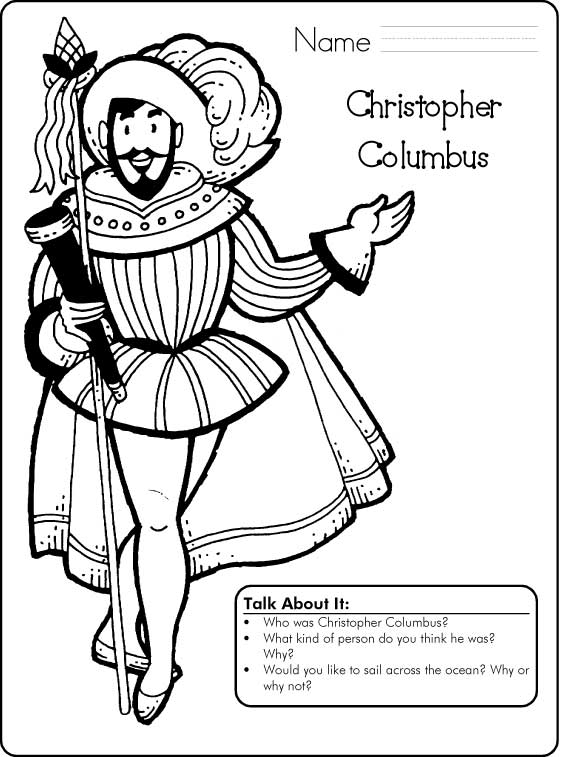 Columbus Day Coloring Pages for