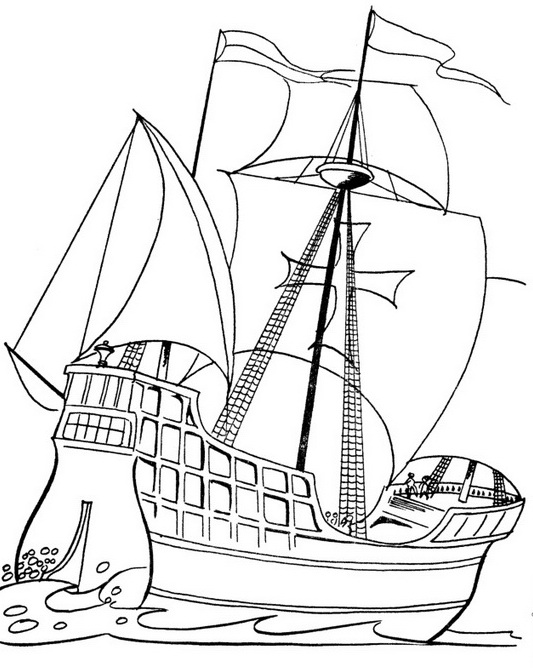columbus ships coloring pages - photo #3