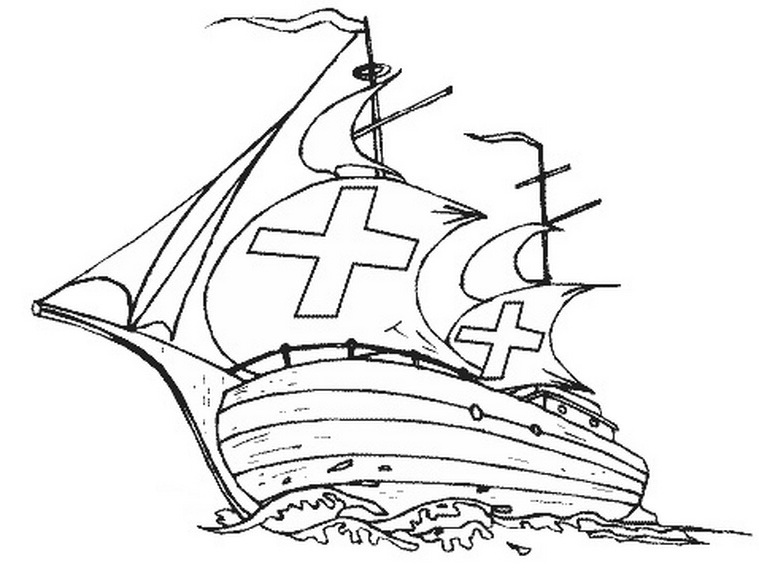 columbus ships coloring pages - photo #9