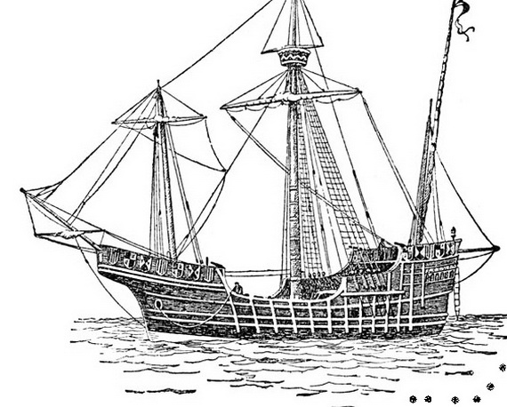 columbus ships coloring pages - photo #31