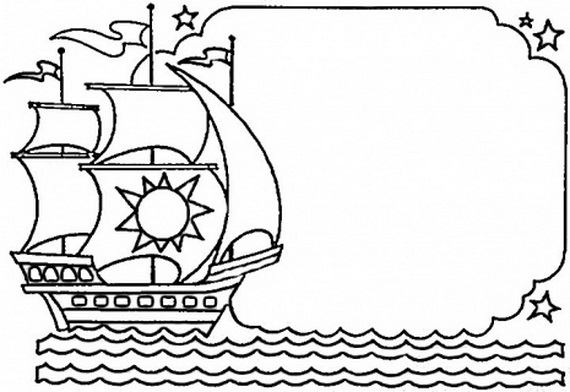 columbus ships coloring pages - photo #33